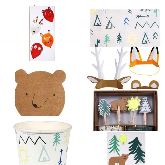 Other - Woodland Forest, Explore & Camp party supply pack